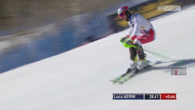 Aspen (USA), Slalom 1re manche: Luca Aerni (SUI) [RTS]