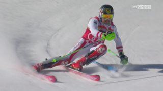 Aspen (USA), Slalom 1re manche: Marcel Hirscher (AUT) [RTS]
