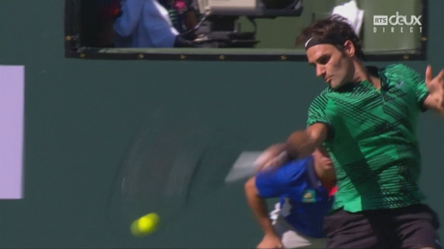 Indian Wells (USA), finale, S. Wawrinka (SUI) - R. Federer (SUI): 4-6 2-2 [RTS]
