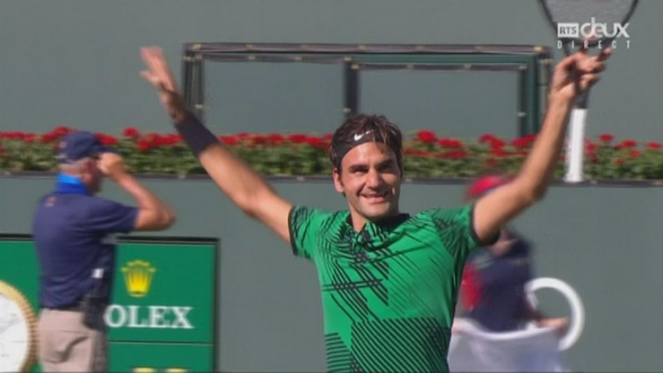 Indian Wells (USA), finale, S. Wawrinka (SUI) - R. Federer (SUI): 4-6 5-7 [RTS]