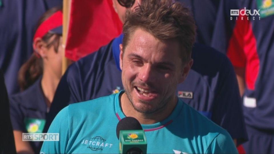 """Wawrinka """"chambre"""" un peu Federer [RTS]"""