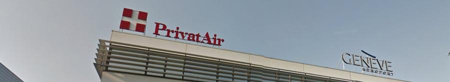 Les bureaux de PrivatAir à l'aéroport de Genève