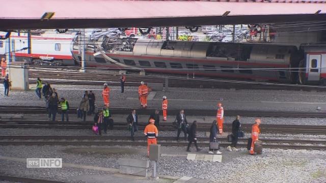 Suisse: un train a déraillé en gare de Lucerne