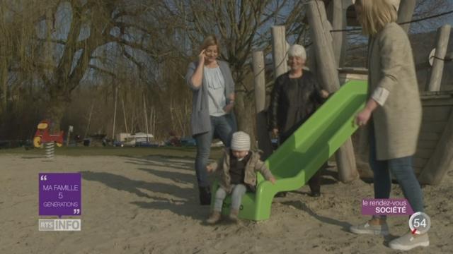 Les familles comptent de plus en plus de générations vivantes en leur sein [RTS]