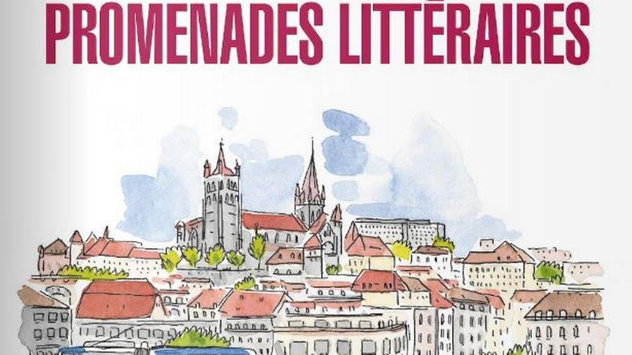 """La couverture de l'ouvrage """"Lausanne. Promenades littéraires"""", paru aux Editions Noir sur Blanc. Editions Noir sur Blanc [Editions Noir sur Blanc]"""