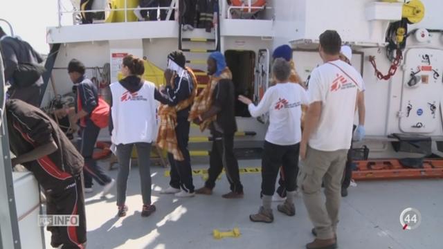 Flux migratoires: l'agence Frontex critique les ONG [RTS]