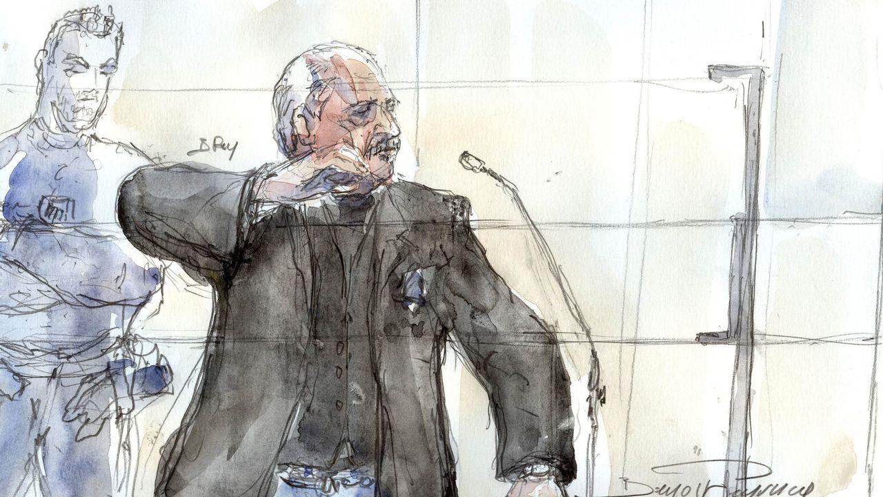 """Un dessin de """"Carlos"""" réalisé le jour de l'énoncé du verdict, le 28 mars 2017. [Benoit PEYRUCQ - AFP]"""