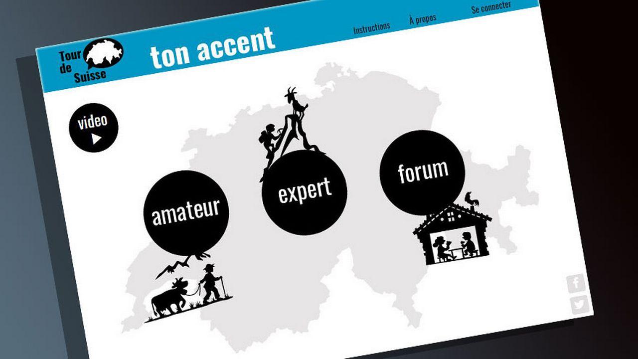 Capture d'écran du site www.tonaccent.ch.