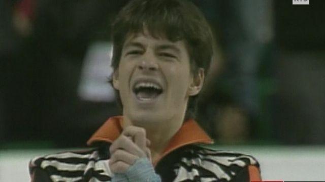 Patinage artistique : Stéphane Lambiel champion du monde à Calgary en 2006. [RTS]