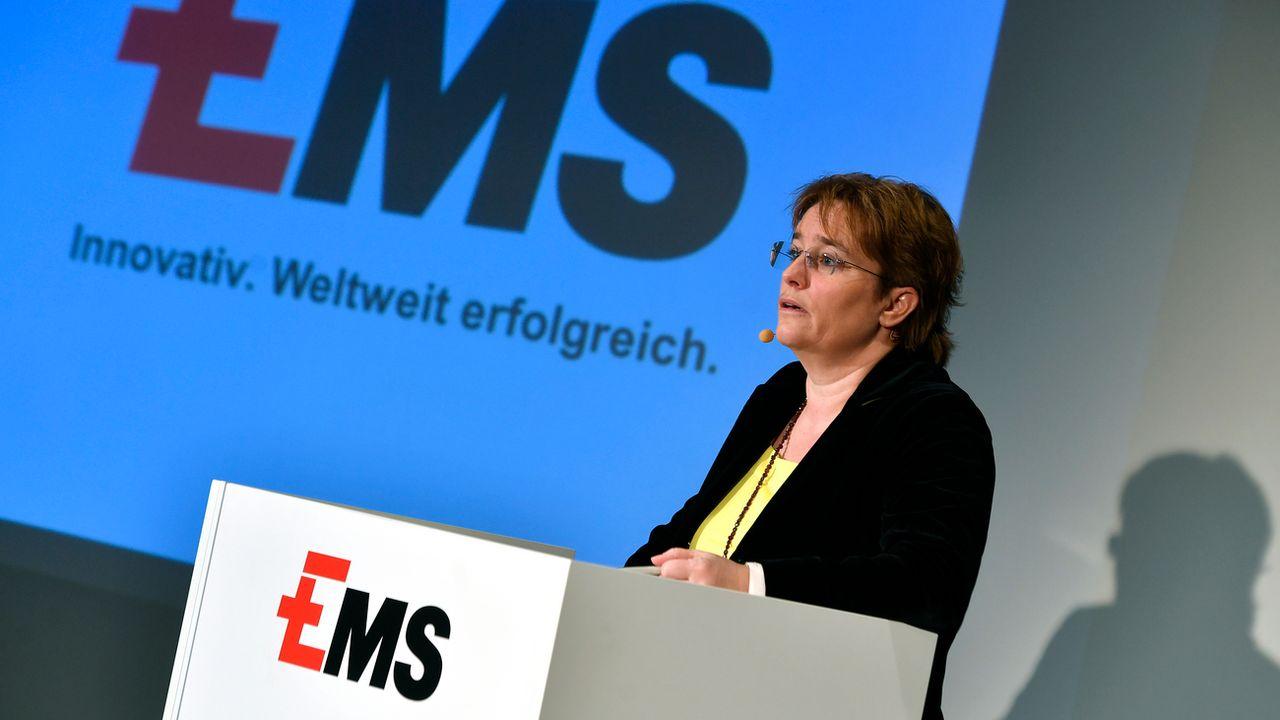 Magdalena Martullo-Blocher, patronne d'EMS Chemie, siège à la direction de Scienceindustries. [Walter Bieri - Keystone]