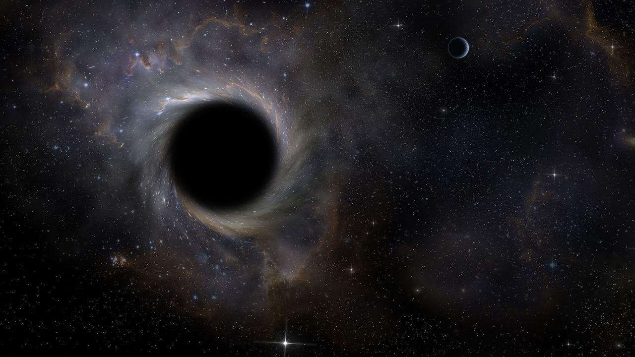 Représentation d'un trou noir dans l'espace. kaalimies Fotolia [kaalimies - Fotolia]