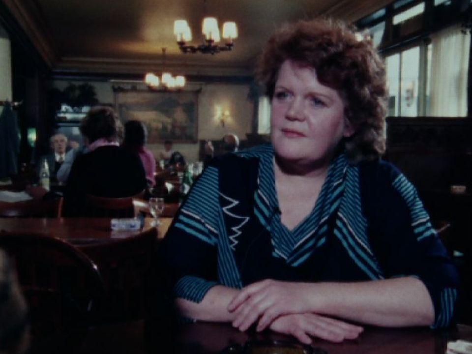 La patronne du Café Romand en 1987. [RTS]