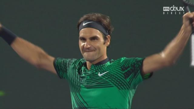 Miami (USA), ½, R.Federer (SUI) – N.Kyrgios (AUS) 7-6 6-7 7-6: Roger Federer s'impose et rejoint Nadal en finale [RTS]