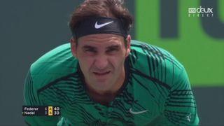 Miami (USA), finale, R. Federer (SUI) - R. Nadal (ESP) 6-3 5-4: Roger fait le break [RTS]