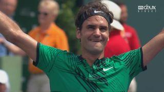 Miami (USA), finale, R. Federer (SUI) bat R. Nadal (ESP) 6-3 6-4 [RTS]