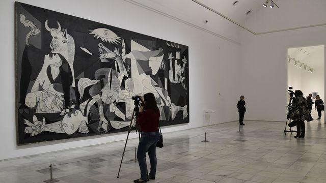 "Le tableau ""Guernica"" de Pablo Picasso. [Javier Soriano - AFP]"