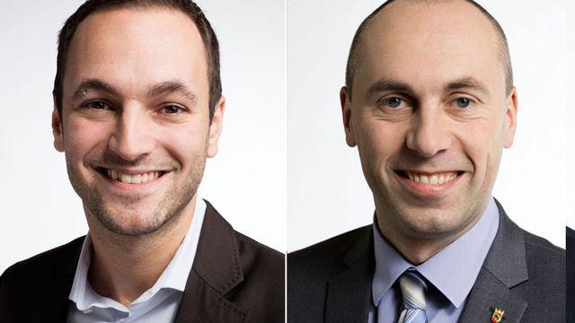 Mathias Reynard et Manfred Bühler. [Gaëtan Bally - Keystone]