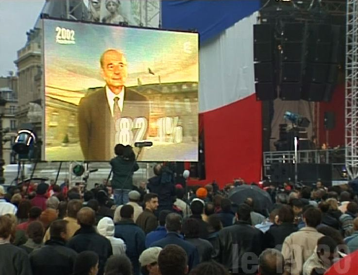Élection de Jacques Chirac en 2002.