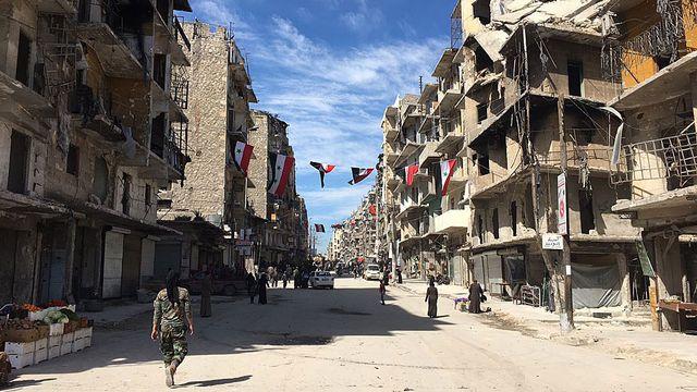 Les habitants d'Alep vivent dans les ruines. [Alexandre Habay - RTS]
