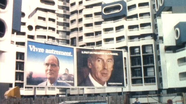 Affiches électorales en 1981. [RTS]