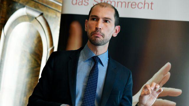 La fondation Ethos fête son 20e anniversaire en lançant cet indice à la Bourse suisse. Ici, Vincent Kaufmann, le directeur de la fondation. [Walter Bieri - Keystone]