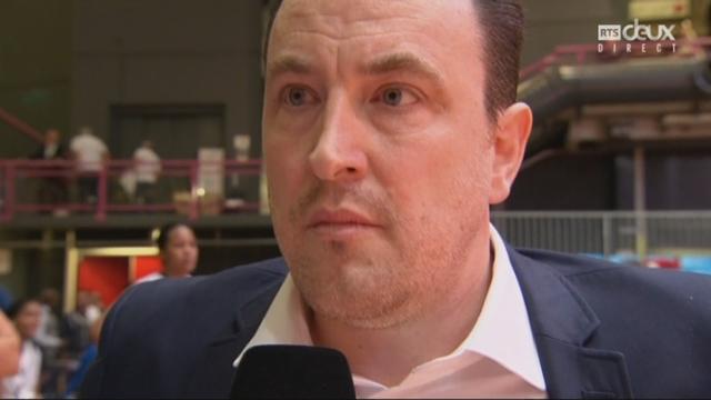 Coupe de Suisse, finale dames: BC Winterthour - Elfic Fribourg 61-59, interview de Romain Gaspoz [RTS]
