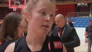 Coupe de Suisse, finale dames: BC Winterthour - Elfic Fribourg 61-59, interview de Miriam Baumann [RTS]