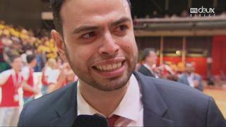 Coupe de Suisse, finale messieurs: Lions de Genève – BBC Monthery 78-77, interview d'Imad Fattal [RTS]