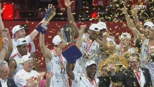 Basketball - Finale de la Coupe de Suisse chez les hommes: triomphe pour les Lions de Genève [RTS]