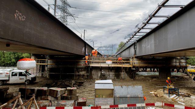 Un chantier à Arbedo, au Tessin. [Carlo Reguzzi - Keystone/Ti-Press]