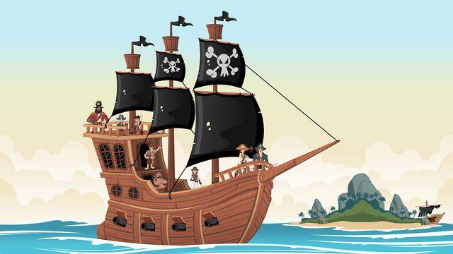 Bateau de pirates [© denis_pc - Fotolia]