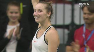 Bienne, finale, Vondrousova (CZE) bat Kontaveit (EST) 6-4 7-6 [RTS]