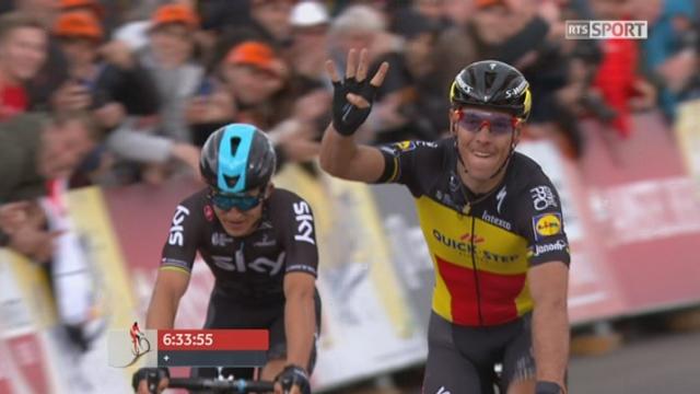 Valkenburg (NED), 261 km: Philippe Gilbert (BEL) remporte la course, Albasini (SUI) finit 3e [RTS]