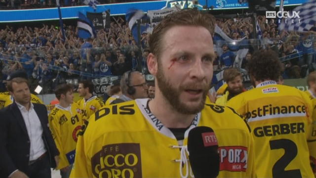 Playoffs LNA, finale acte VI : Zoug – Berne 1-5, interview de David Jobin [RTS]