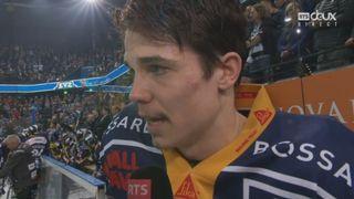 Playoffs LNA, finale acte VI : Zoug – Berne 1-5, interview de Reto Suri [RTS]