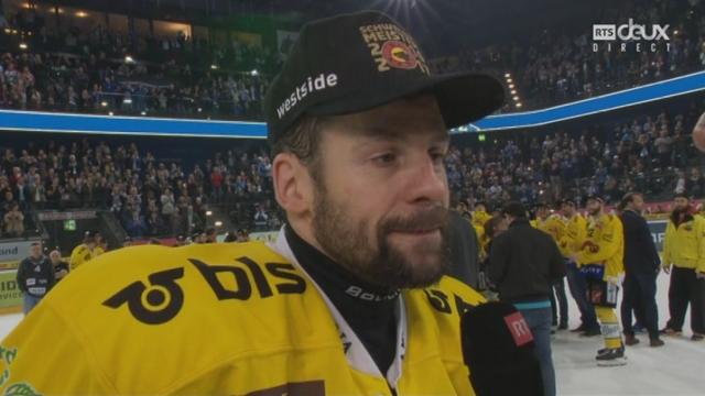 Playoffs LNA, finale acte VI : Zoug – Berne 1-5, interview de Martin Plüss [RTS]
