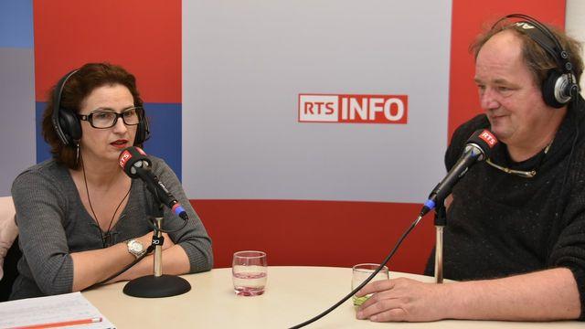 Morena Pozner et Marc Seiler. [Gaël Klein - RTS]