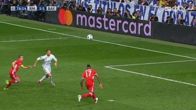 Ligue des champions, ¼ retour: Real Madrid – Bayern Munich 1-1, 75e Ronaldo [RTS]