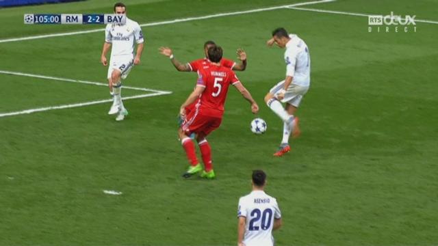 Ligue des champions, ¼ retour: Real Madrid – Bayern Munich 2-2, 105e Ronaldo [RTS]