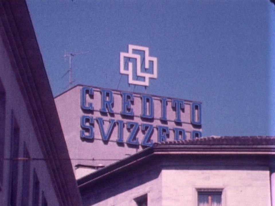 La filiale de la banque Crédit Suisse à Chiasso fait scandale en 1977. [RTS]