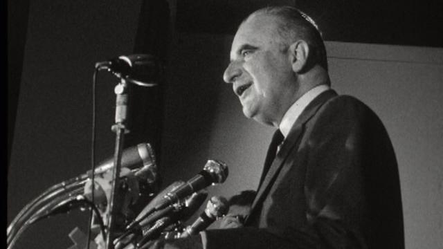 Georges Pompidou en campagne présidentielle, 1969. [RTS]