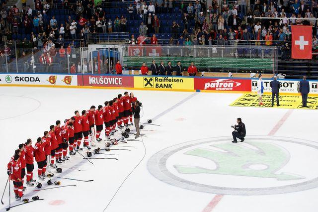 La Suisse retrouve la Russie à Bienne le 22 avril 2017 (ici en mai 2016). Salvatore Di Nolfi Keystone [Salvatore Di Nolfi - Keystone]