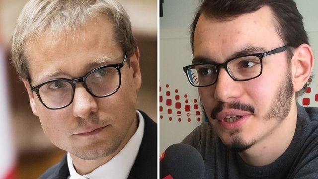 Philippe Nantermod et Valentin Christe.