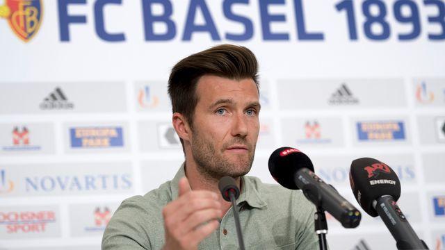 Raphael Wicky, le nouvel entraîneur du FC Bâle pour la saison 2017-2018, lors de la conférence de presse d'intronisation. [Georgios Kefalas - Keystone]