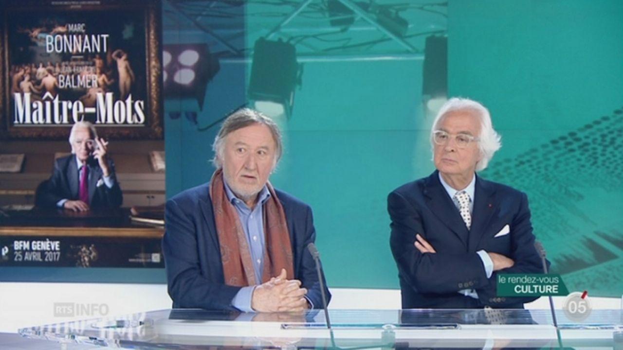 Les invités culturels: Jean-François Balmer et Marc Bonnant présentent leur nouvelle pièce [RTS]