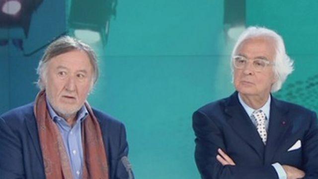 """Jean-François Balmer et Marc Bonnant présentent leur nouvelle pièce, """"Maîtres-mots. [RTS]"""