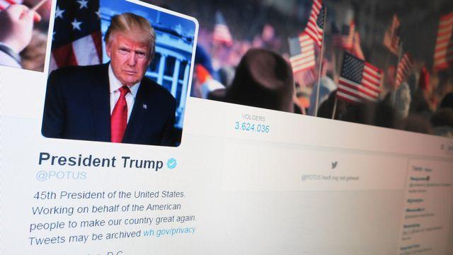 Compte twitter présidentiel de Donald Trump. [Benoît Doppagne - AFP]