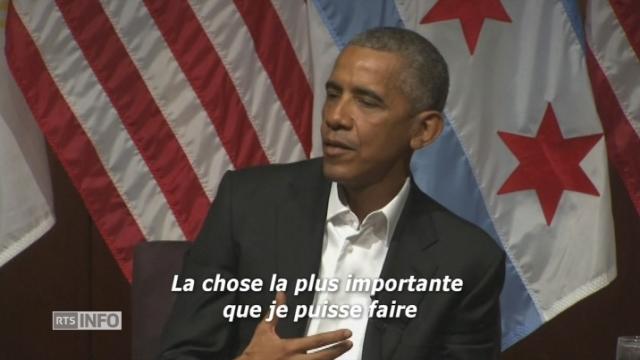 Barack Obama sort de son silence [RTS]
