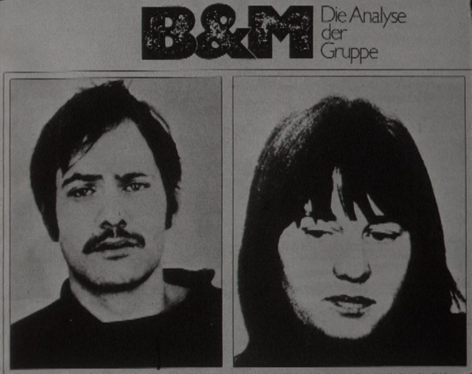 Wanted : Andreas Baader et Ulrike Meinhof de la Fraction armée rouge.