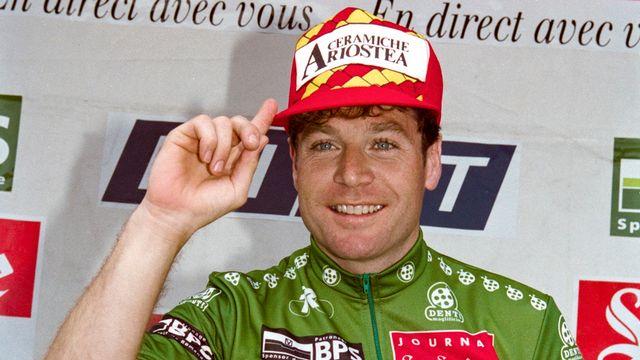 Richard lors de sa victoire sur le Tour de Romandie en 1993. [Keystone]